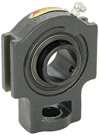"Sealmaster ST-23 Take-Up Unit, Standard Duty, Regreasable, Setscrew Locking Collar, Felt Seals, Cast Iron Housing, 1-7/16"" Bore, 17/32"" Slot Width, 3-1/2"" Between Frames"