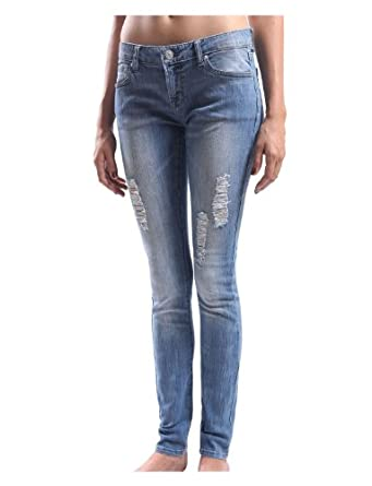 LE3NO Womens Premium Vintage Washed DIstressed Skinny Denim Jean Pants