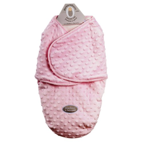 Baby Plush Dot Swaddle Bag For 0-3 Months By Blankets And Beyond Pink - 1