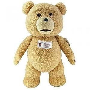 Ted 60cm de la felpa con sonido, R-Rated, 5 Frases (Explicit Language) Los niños, niños, juego