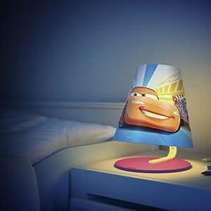 Philips Kinderzimmer Tischlampe Disney Cars Orange 1W LED Licht