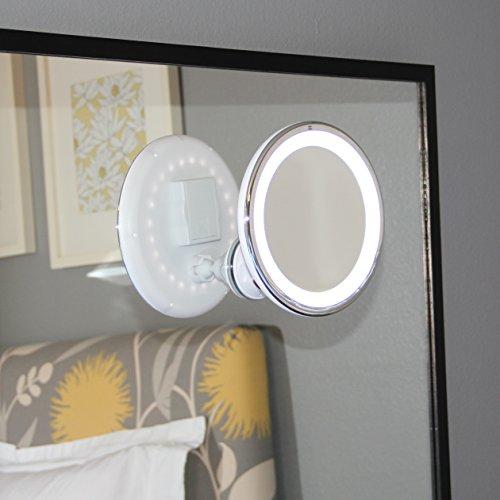 led makeup mirror adjustable magnification lighted makeup mirror vanity wa. Black Bedroom Furniture Sets. Home Design Ideas