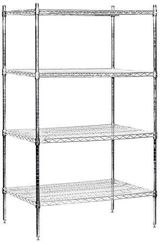 salsbury industries stationary wire shelving unit 36 inch wide by 74 inch high by 24 inch deep. Black Bedroom Furniture Sets. Home Design Ideas