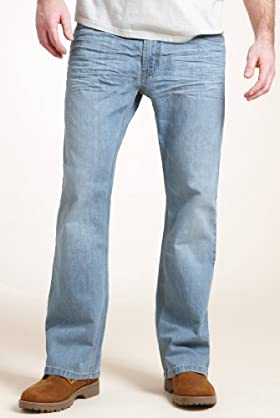 North Coast Rugged Wash Jeans with Belt [T17-6906N-S]