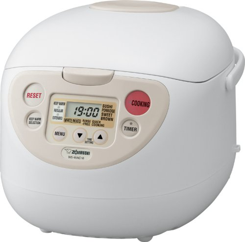 Zojirushi NS-WAC10 Micom Fuzzy-Logic 5-1/2-Cup (Uncooked) Rice Cooker and Warmer