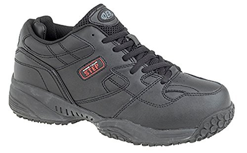 mens-dek-wide-fitting-memory-foam-leather-slip-resistant-trainers-shoes-black-size-11