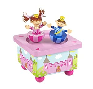 Wooden Handcrafted Prince & Princess Music Box by Orange Tree Toys