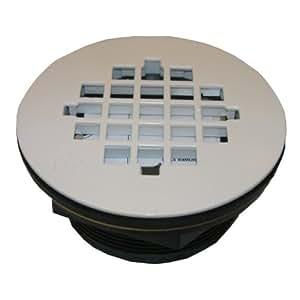 LASCO 03-1251 Shower Drain for Fiberglass Shower Stalls And Pans, White Finish
