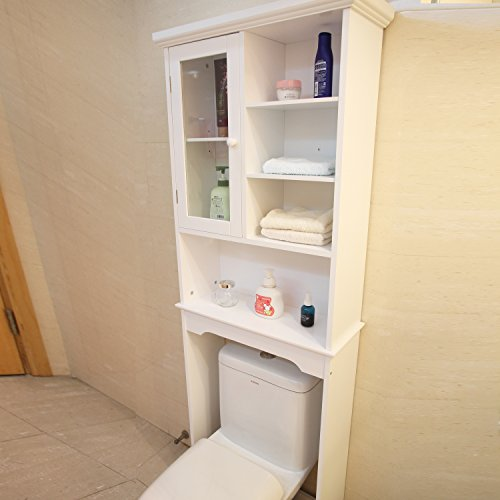 Decenthome Bathroom Storage Space Saver Double Door Opening White Dealtrend