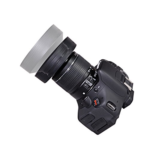 CamDesign 77MM Collapsible Rubber Lens Hood for Canon, Nikon, Sony, Samsung, Olympus, Pentax, Fujifilm, and Panasonic Lens + CamDesign Wristband Lens Focus Ring (Canon 77mm Lens Hood compare prices)