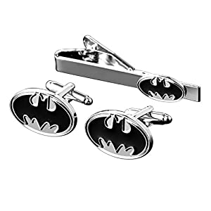 MGS Men's Cufflinks Tie Bar Clip Clasp Personalized Engraving The Avengers Justice League Superhero Marvel DC Comics Copper Suit Shirt Wedding Gift