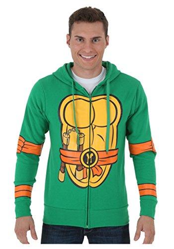 [TMNT Michelangelo Zip Hoodie - M] (M Bison Costume)