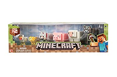 5 X Minecraft Animal Toy (6-Pack) from Jazwares Domestic