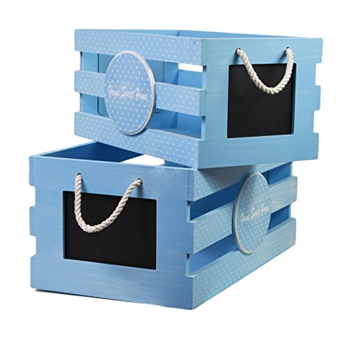 set-of-2-wooden-storage-boxes-nostalgic-crates-chest-box-with-rope-handles-blue