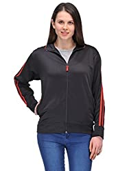 Scott Women Wrinkle Free Dryfit Jacket (Black with Red Stripes) - FBALJKT4M