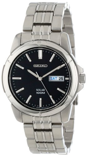 Seiko Men's SNE093 Stainless Steel Solar Watch