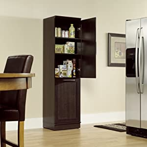 Amazon Narrow Storage Cabinet w Recycle Bin Trash