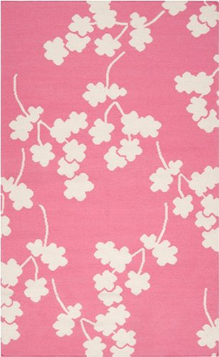 Jill Rosenwald by Surya Fallon FAL-1064 Transitional Hand Woven 100% Wool Bright Pink 8' Round Global Area Rug