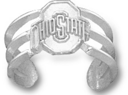Ohio State Buckeyes OSU NCAA Sterling Silver Toe Ring 1/4
