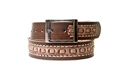 Thayla Men's Leather Belt (4505_Brown_42)