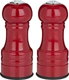 Trudeau Maison 4.5 inch Salt and Pepper Shakers - Red Colored Finish