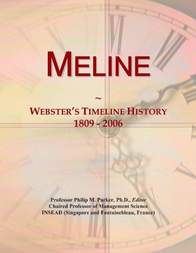 Meline: Webster's Timeline History, 1809 - 2006