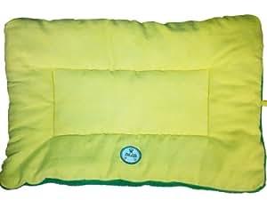 Pet Life Eco-Paw Reversible Pet Bed, Medium, Yellow/Green