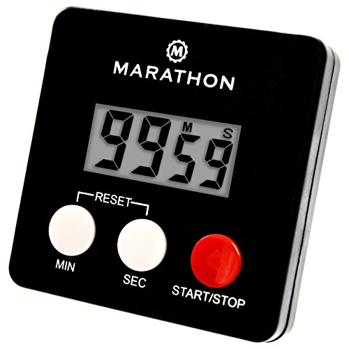 MARATHON TI080006-BK Digital 100 Minute Timer w/ Magnetic Clip - Black, Batteries Included (Digital Desk Timer compare prices)