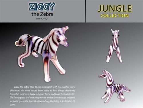 Looking Glass Ziggy The Zebra Toy Figure