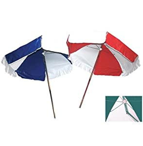 LIFEGUARD UMBRELLA - WEATHER DURABLE - ROYAL BLUE AND WHITE