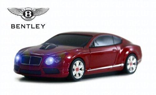 Bentley Continental GT V8 Wireless Auto-Mouse (Rosso) Senza fili ottico