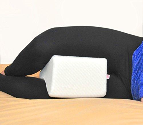 Leg Knee Pillow W Case Body Align Positioner Sleep Better