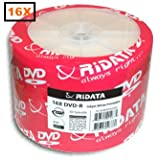 Ridata 16X DVD-R White Inkjet Hub Printable 100 Pack in Shrinkwrap (Color: white inkjet hub)