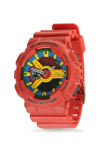 Casio G-Shock Men's Red Analog Digital Watch Ga-110Fc-1A (Gshock Lap Timer compare prices)