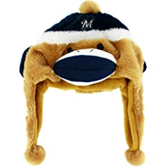 MLB Milwaukee Brewers Sock Monkey Hat by Forever Collectibles