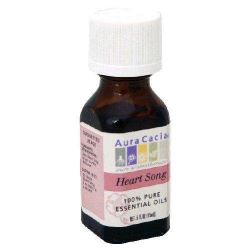 Aura Cacia Essential Oil Blend, Heart Song, 0.5 fluid ounce