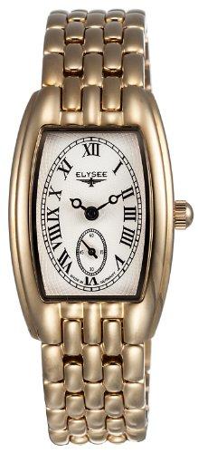 Elysee 84015 - Reloj analógico de mujer de cuarzo con correa de acero inoxidable dorada - sumergible a 30 metros