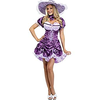 FunWorld Sexy Southern Belle, Purple, 2-8 Small Costume