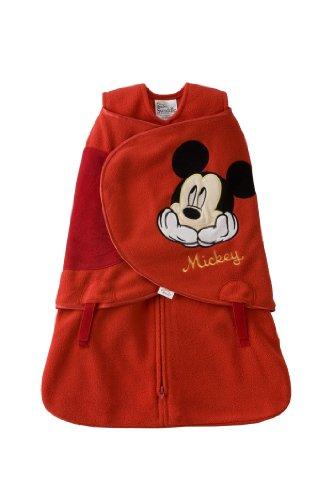 Halo Sleepsack Micro-Fleece Newborn Disney Swaddle, Mickey With Hat front-103224