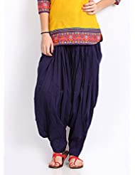 Pistaas Navy Blue Full Cotton Patiala Salwar