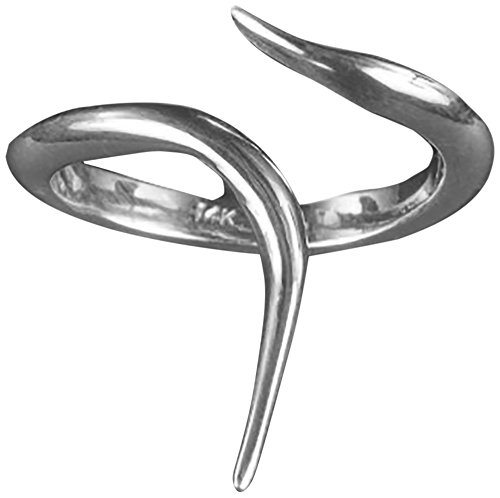 Bijules Women's Sterling Silver Ribbon Ring - Size Medium