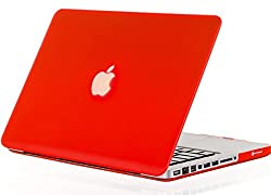 Kuzy 15-Inch Rubberized Hard Case for Macbook Pro 15.4-Inch - A1286 - Aluminum Unibody - Red