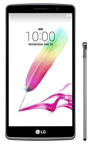 LG Stylus G4 LGH635 Smartphone mit Eingabestift (14,5 cm (5,7 Zoll)IPS LCD Touchscreen, 8GB, Android 5.0 Lollipop) titan