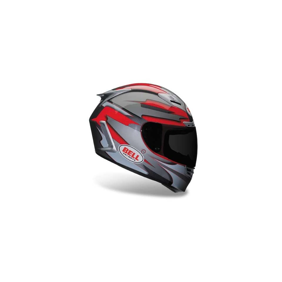 Bell Recoil Red/Silver Full Face Motorcycle Helmet   Size