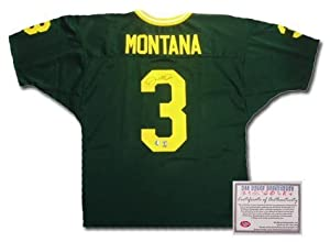 Joe Montana Notre Dame Fighting Irish NCAA Hand Signed Authentic Style Away Green... by All+About+Autographs