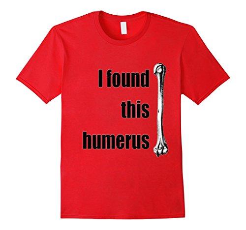 mens-i-found-this-humerus-bone-humor-gift-idea-shirt-xl-red