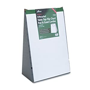 Ampad Evidence Tabletop Easel-Back Flip Chart, 20 White 20 x 28 Inch Sheets (24-022)