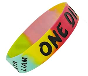 Hippie Tie Dye One Direction Wristband One Direction Bracelet 1 Wide 27 from Hinky Imports