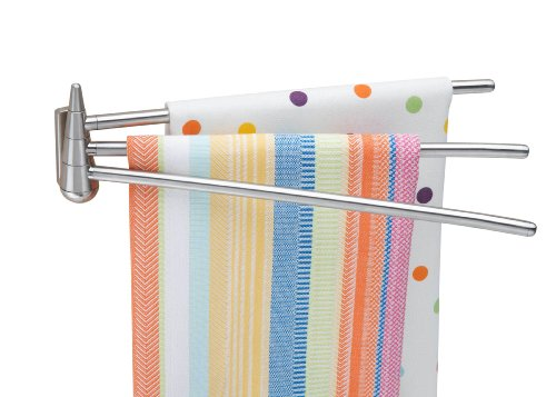 Better Housewares 2490 Wall-Mounted 3-Arm Stainless-Steel Towel Bar