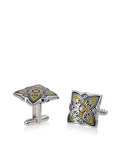 L2 by LOMA Yellow Spanish Bloom Cufflinks